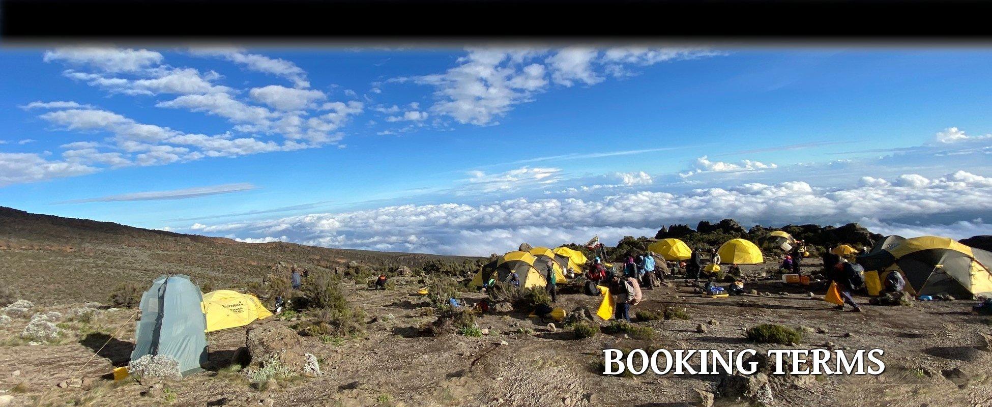 Kilimanjaro Booking Conditions